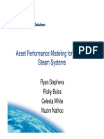 1 Asset Performance Modeling for Refinery Steam Systems -- Shell