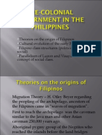 Pre-colonial government in the philippines