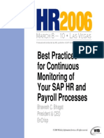 Best Practices for Continuous Monitoring of Your SAP HR and Payroll Processes