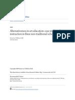 Alternativeness in Art Education- Case Studies of Art Instruction
