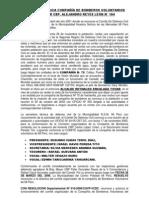 RESEÑA HISTORICA COMPAÑÍA DE BOMBEROS VOLUNTARIOS BRIGADIER CBP