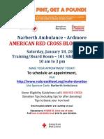 Narberth Ambulance blood drive