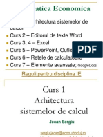Curs 1 - Arhitectura Sistemelor de Calcul