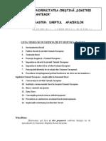 Teme Disertatie Drept Fiscal European D D Saguna