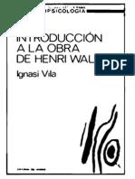 IGNASI  VILA  Introducción a la obra de Henri Wallon