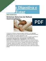 refluxo, sintomas noturnos Saúde Digestiva e Bem