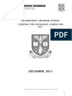 Musselburgh Grammar School Handbook 2014/2015