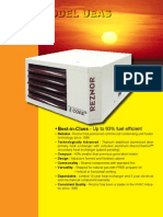 Reznor High Efficiency UEAS Gas Fired Unit HeaterBrochure Best