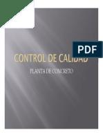 Control de Calidad - Planta de Concreto
