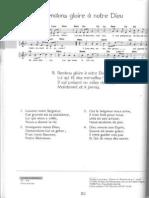 chant et partition. Rendons gloire à Notre Dieu0001