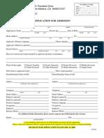 MCDS Application 0809