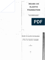 Beams on Elastic Foundation by Hetenyi