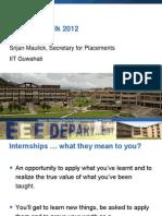 Internship Talk 2012-13