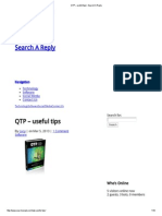 QTP – useful tips _ Search A Reply
