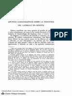 Apuntes Lexicográficos sobre la Industria del Ladrillo en Bogotá