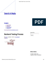 Backend Testing Process _ Search a Reply