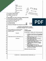 2013 Giampaoili v Busch Low Alcohol Class Action Complaint
