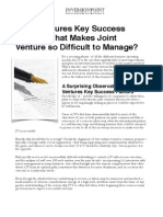 Joint Ventures Key Success Factors