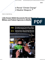 "NASA Documents Reveal ""Climate Change"" Caused By Covert Weather Weapons « GeoEngineering Exposed"