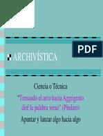 archivistica Ciencia o Técnica