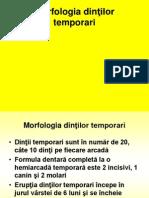 Curs 9 Morfologia Dintilor Temporari T