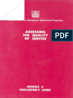 Module 6 Assessing the Quality of Service (Facilitator's Guide)