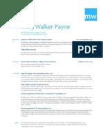 Résumé - Mary Walker Payne