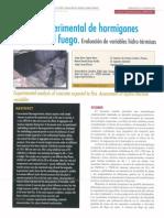 CAPOTE Arturo Ea - Analisis Experimental de Hormigones Expuestos Al Fuego