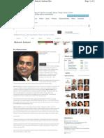 Mukesh Ambani Biography