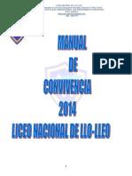 Manual de Convivencia 2014 Liceo Nacional de Llo-Lleo