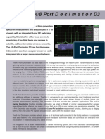 SED 8-Port D3 Decimator / Remote Spectrum AnalyzerData Sheet