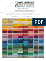 Ral Color Chart | Zero Ral Colour Chart