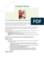 Basics About Childhood Obesity