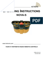 Operating Instructions - NOVA-S