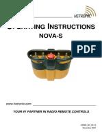 Operating Instructions - NOVA-S