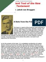 The Ancient Text of the New Testament Jakob Van Bruggen