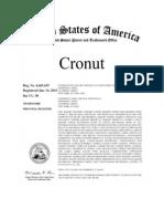 Cronut Trademark Registration Certificate