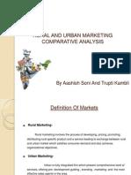 Rural and Urbanmarketing Comparetive Analysis