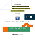 A Project Report on Idbi Bank-harshit Singh