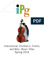 IPG Spring 2014 Instructional, Children's, Fiction & Miscellaneous Music Titles