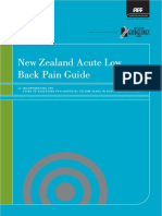 NewZealand Backpain Guidelines