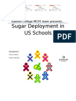 Sugar Deployment in US Schools Report