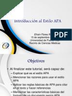 Introducción al  Estilo APA
