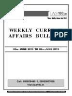 Weekly 03 June to 09 June 2013