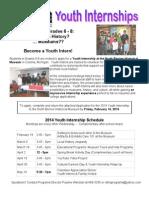 Youth Internship Application 2014