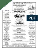 Parish Bulletin for January 19, 2014
