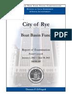 Rye City Boat Basin fund audit, January 2014