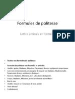 Formules de Politesse