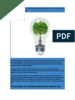 Consejos para ahorrar energía eléctrica y cuidar el medio ambiente