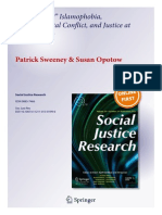"""""""Why There?"""" Islamophobia, Environmental Conflict, and Justice at Ground Zero - Patrick Sweeney and Susan Opotow"""